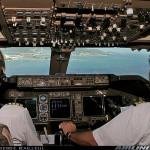 a látvány a pilótafülkéből